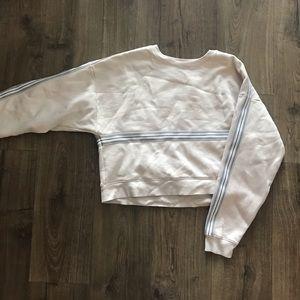 TNA Striped Crop Sweater